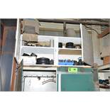 LOT/ STEEL CABINET WITH PLUMBING FIXTURES AND PIPE FLANGES [RIGGING FEES FOR LOT #18 - $150 USD PLUS