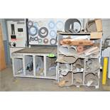 LOT/ GASKET MATERIAL WITH CART [RIGGING FEES FOR LOT #51 - $150 USD PLUS APPLICABLE TAXES]
