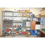 LOT/ SHELF WITH CONTENTS CONSISTING OF PARTS AND SUPPLIES [RIGGING FEES FOR LOT #42 - $175 USD