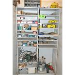 LOT/ CABINET WITH CONTENTS CONSISTING OF TOOLING AND SUPPLIES [RIGGING FEES FOR LOT #38 - $150 USD