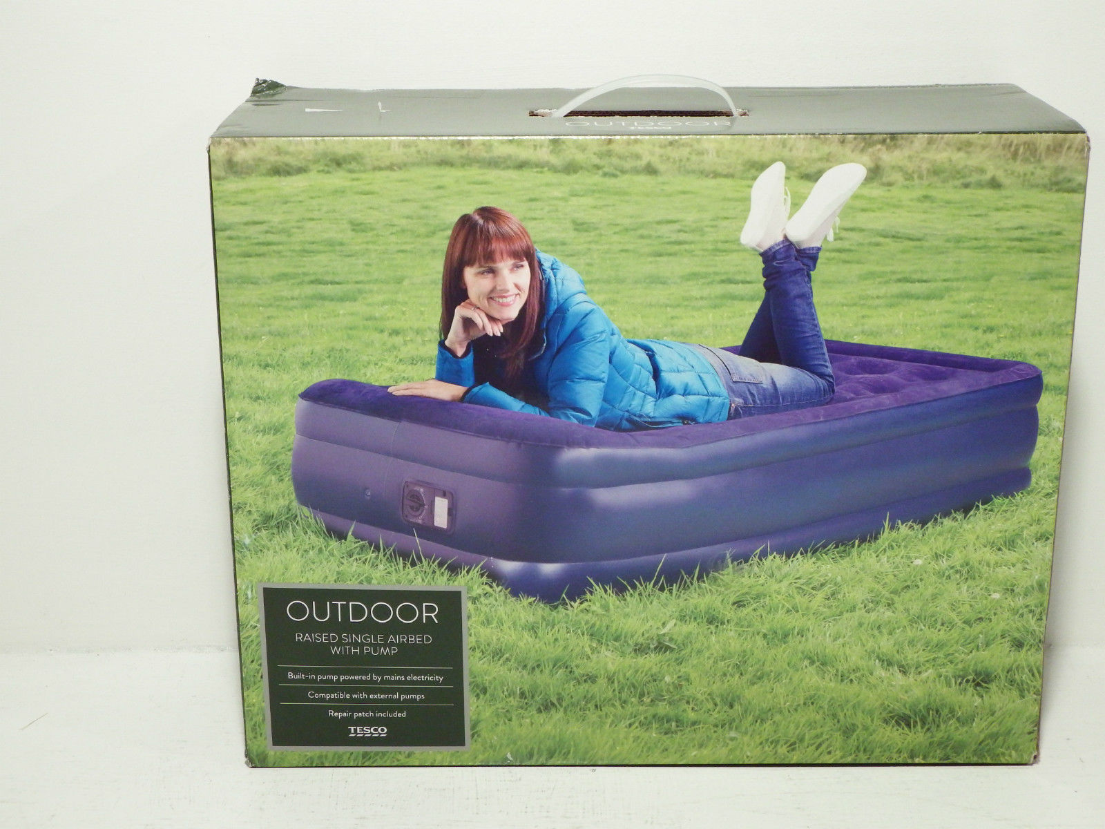 Picture of: The Tesco Deluxe Double Layer Single Sized Airbed Comes Equipped With A Pump Its Innovative Bu