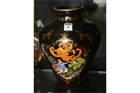 A Faberge Firebird Vase By Franklin Mint Decorated With A Figure In