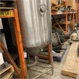 Stainless Single Wall Tank Center Cone Bottom Discharge Open Top. LOADING FEE $150