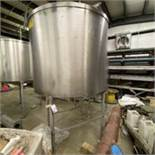 Stainless Single Wall Tank Center Discharge Open Top. LOADING FEE $150