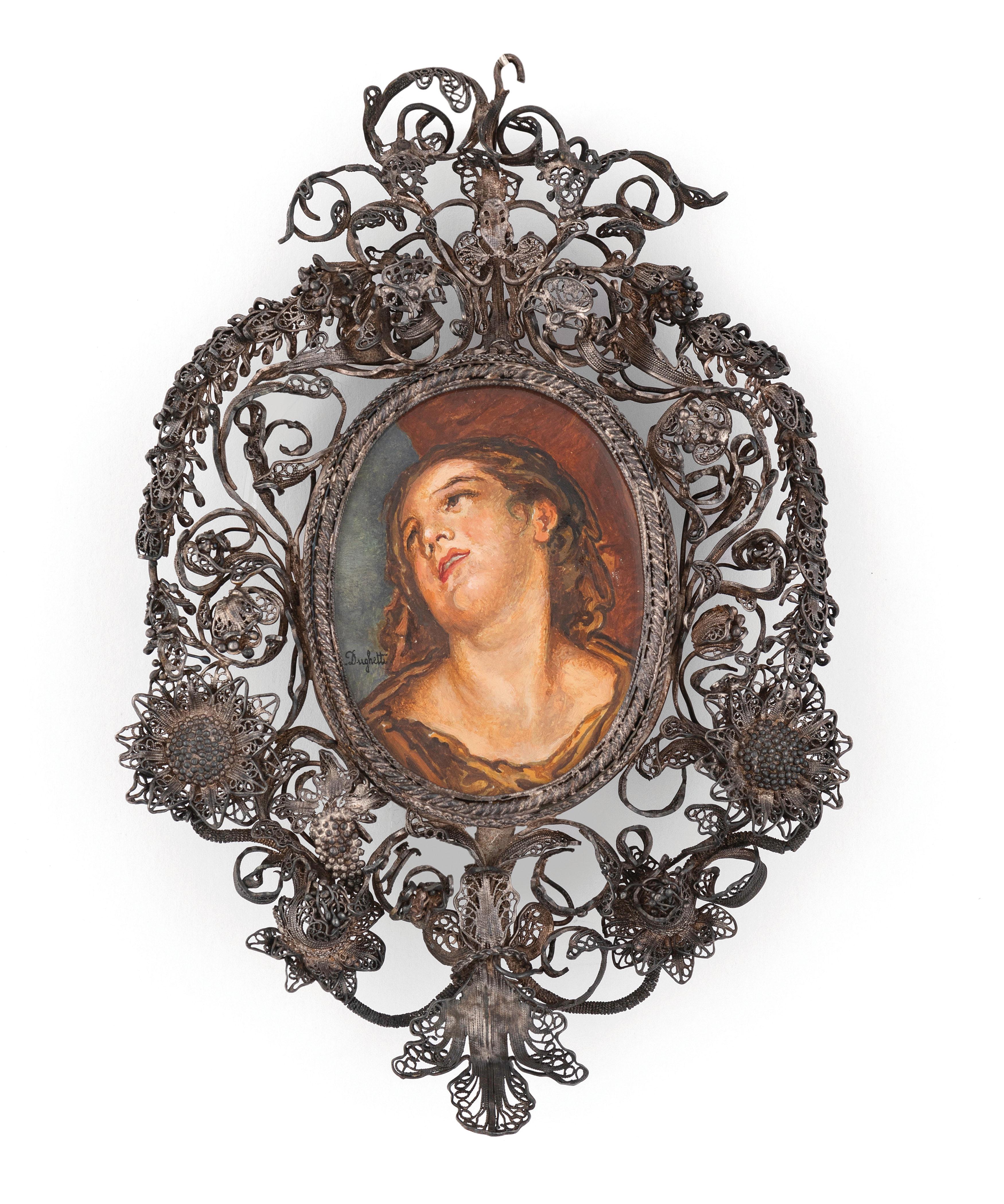 DUE CORNICI IN FILIGRANA D'ARGENTO, SICILIA, XVIII-XIX SECOLO