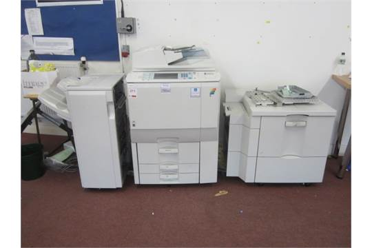 Ricoh Atico MP 7500 photocopier, extended paper tray and collator