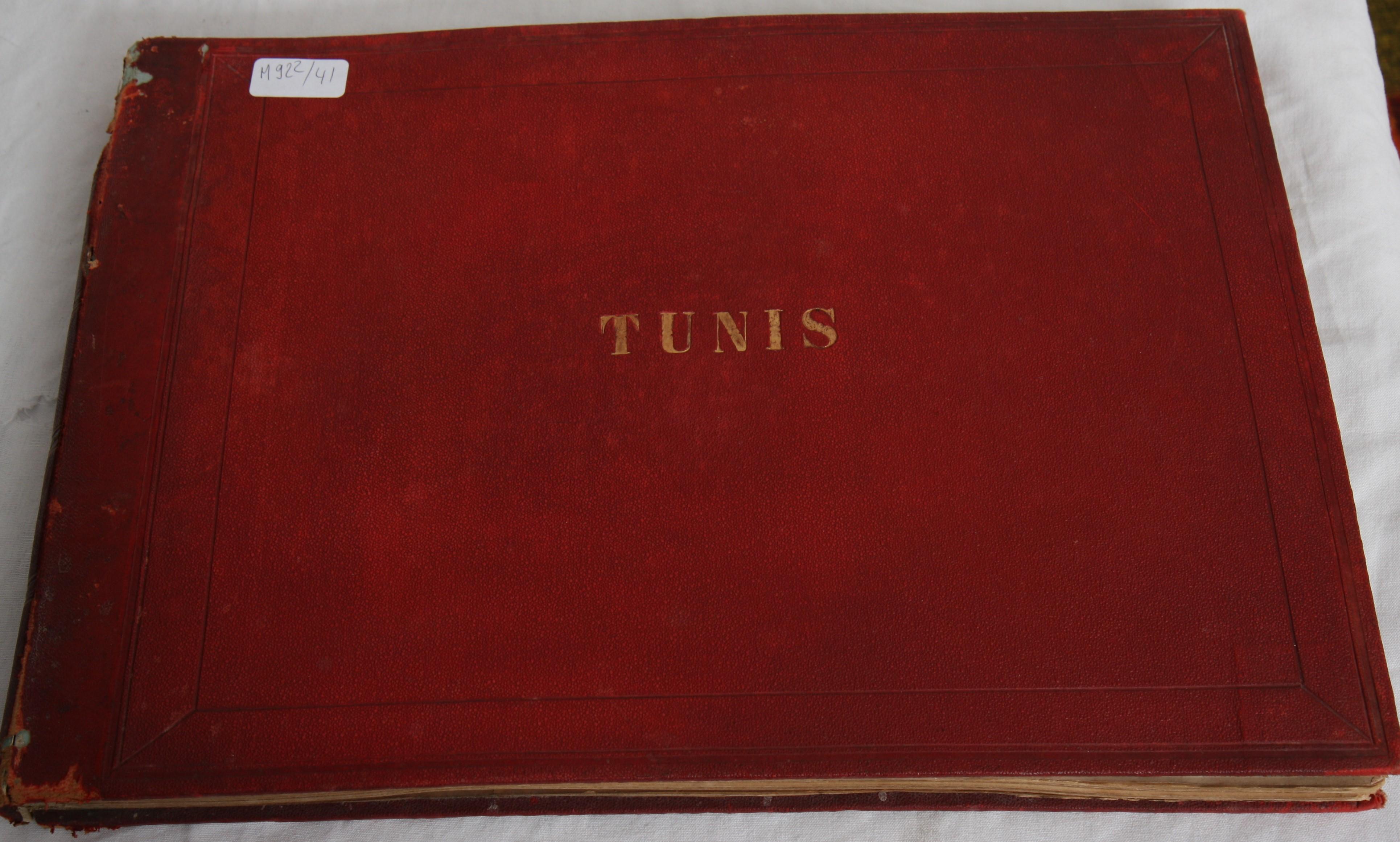 """Los 8 - ALBUM DE PHOTOS NOIR ET BLANC """"TUNIS"""" DE GARRUIGUE XIXè 23 photos noir et blanc [...]"""