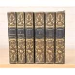 SUITE DE 6 VOLUMES ILLUSTRES DE BUFFON XIXè Comprenant : lla terre, les minéraux, [...]