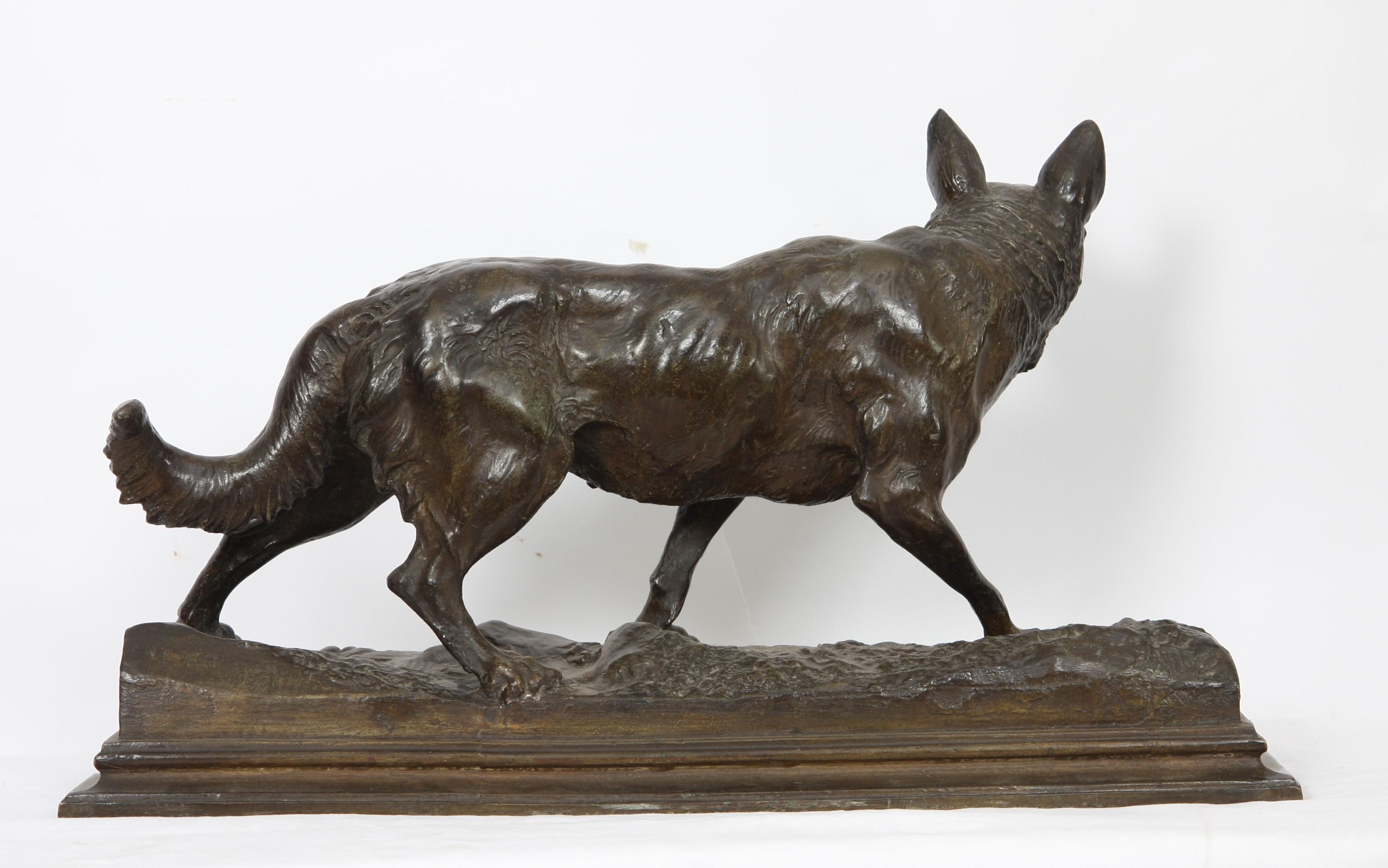 """Los 29 - BRONZE """"LOUP"""" DE ANTONIO AMORGASTI (1880-1942) En bronze patiné, signé et daté sur [...]"""