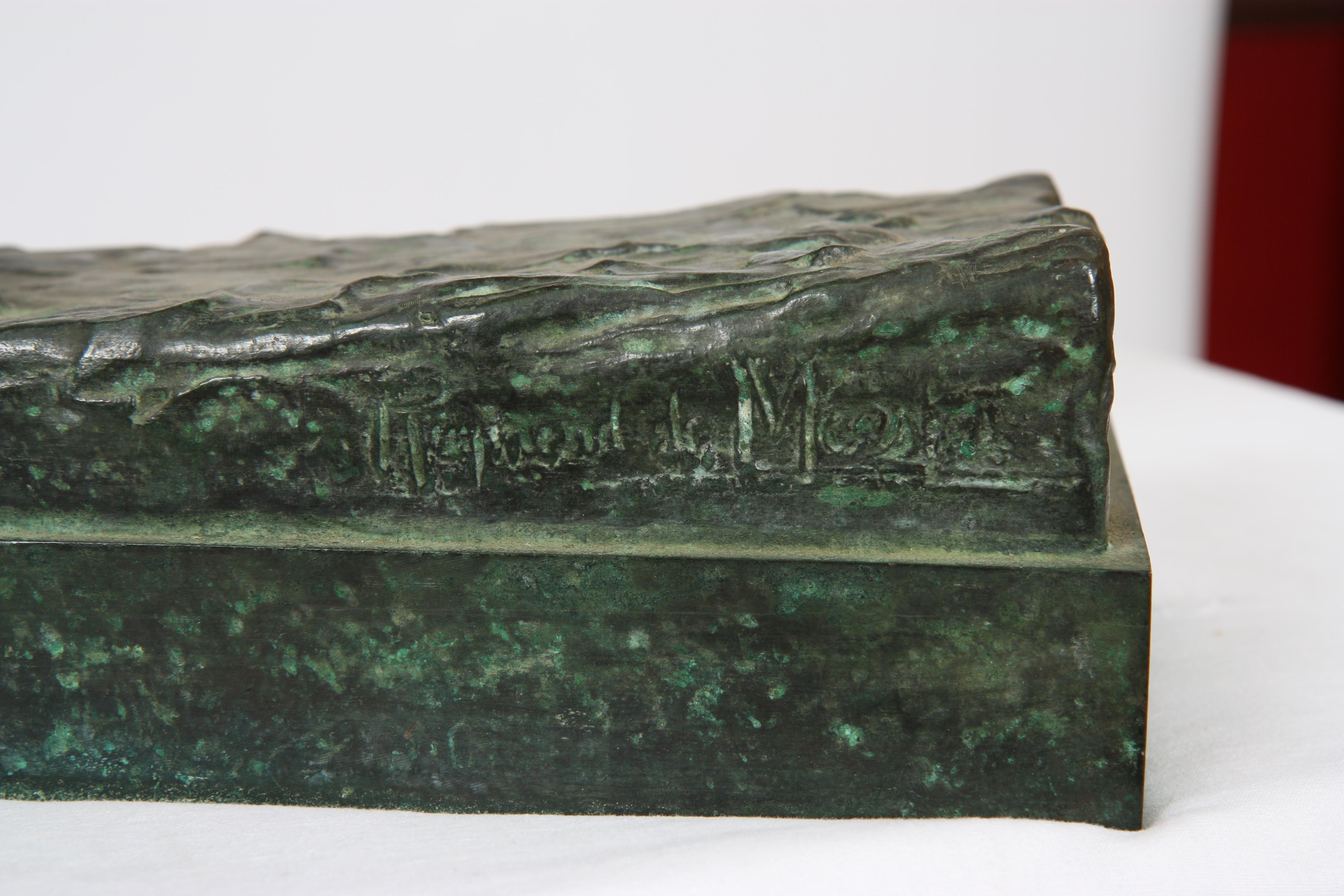 """Los 38 - BRONZE """"CHEVAL DE TRAIT"""" DE RAYMOND DE MEESTER (1904-1995) En bronze patiné [...]"""