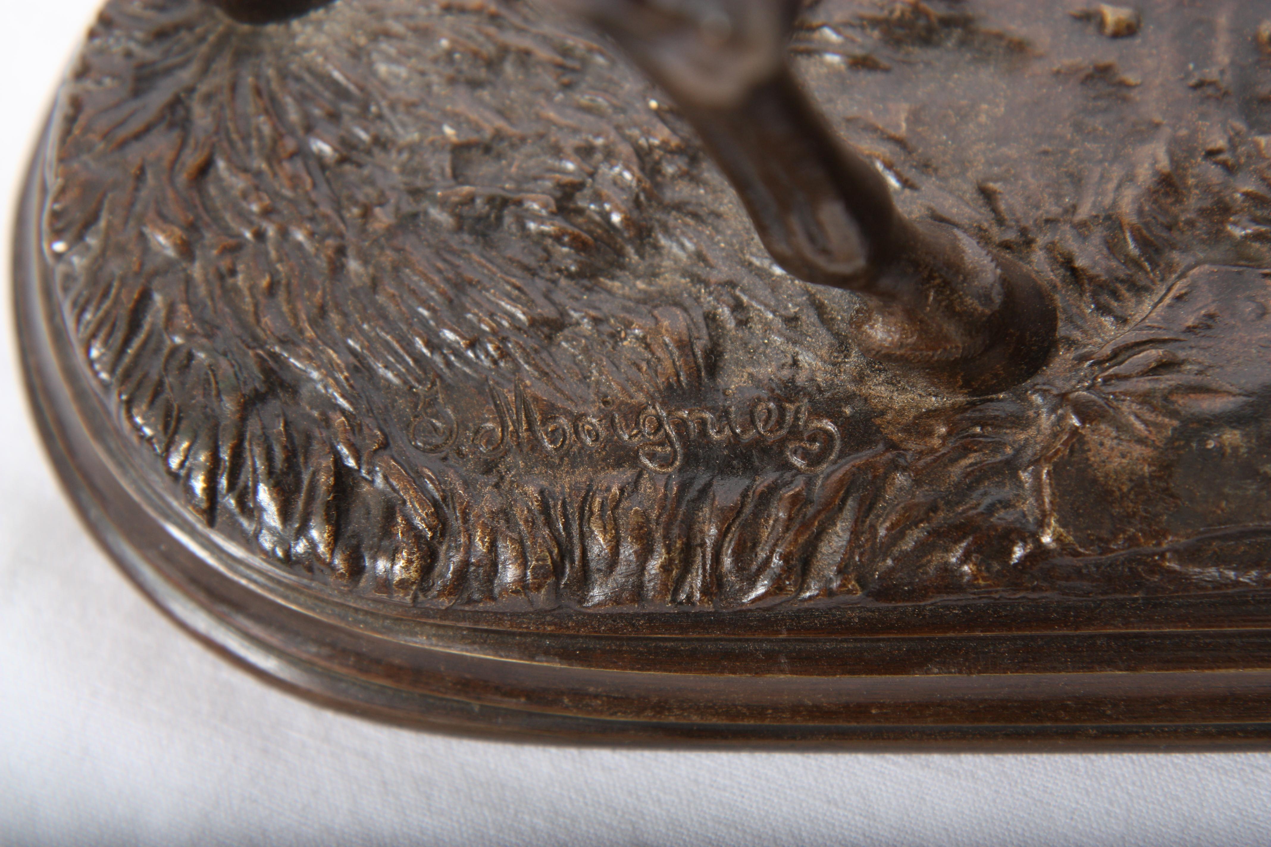 """Los 34 - BRONZE """"GRAND PUR-SANG A L'ECOUTE"""" DE PIERRE JULES MOIGNIEZ (1835-1894) En bronze [...]"""