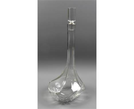 BACCARAT; a 'Narcisse' crystal decanter with stopper, signed to base, height including stopper 40.5cm.Additional InformationG
