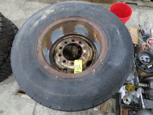 (2) SETS OF TIRES (11.00 R22XZA AND G124 10R22.5) (LOCATED IN LUMBERTON,NJ)