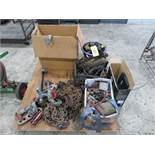 ASSORTED CHAINS, SLINGS, RATCHETS, HOOKS AND TOW ACCESSORIES (LOCATED IN LUMBERTON,NJ)