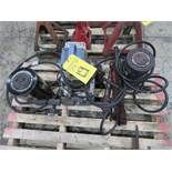 OTC 1/2 HP ELECTRIC HYDRAULIC PUMP W/(2) 100 TON JACKS AND (3) PORTA-POWER UNITS (LOCATED IN