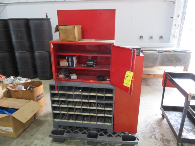 WALL CABINETS W/VALVES, DISTRIBUTOR CAPS, MODULES, FILTERS AND MISCELLANEOUS HARDWARE (LOCATED IN