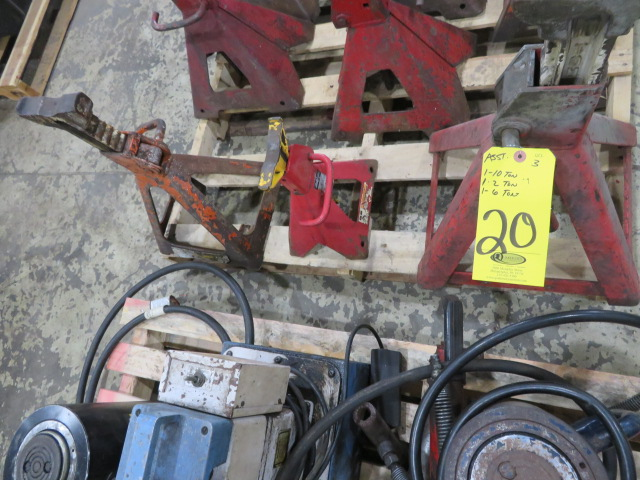 (3) JACK STANDS TO 10 TON (LOCATED IN LUMBERTON,NJ)