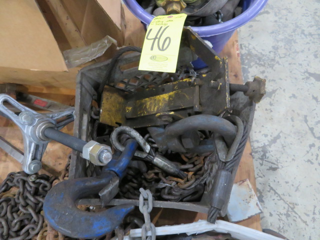 ASSORTED CHAINS, SLINGS, RATCHETS, HOOKS AND TOW ACCESSORIES (LOCATED IN LUMBERTON,NJ) - Image 4 of 6