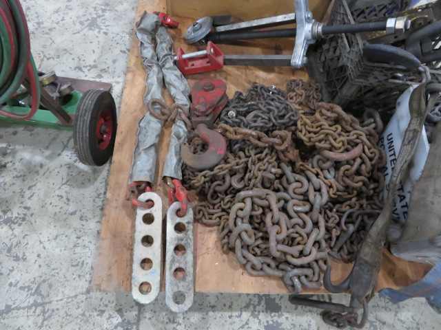 ASSORTED CHAINS, SLINGS, RATCHETS, HOOKS AND TOW ACCESSORIES (LOCATED IN LUMBERTON,NJ) - Image 2 of 6