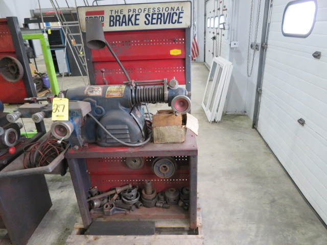 AMMCO BRAKE AND DRUM LATHE MDL. 4000 W/ASSORTED PARTS (LOCATED IN LUMBERTON,NJ)