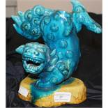 A 19th cent Chinese sancai glazed Fo dog