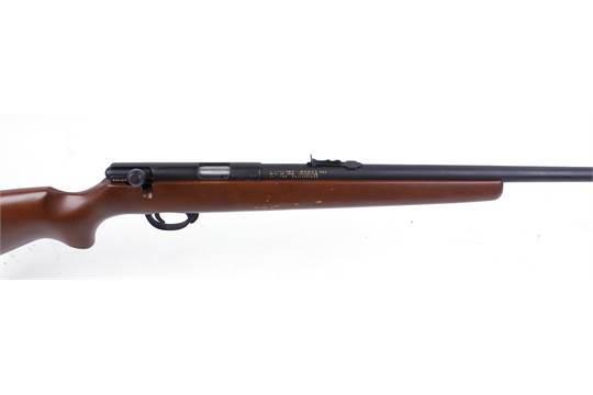 S1  22 Sterling bolt action rifle (no magazine), threaded