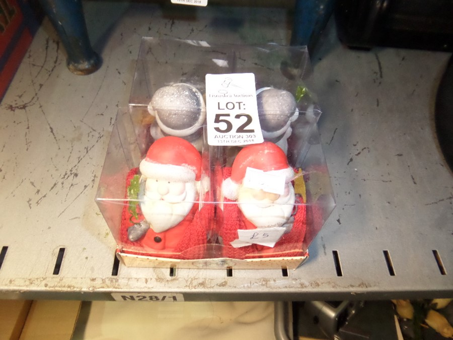 Lot 52 - 2 NEW PACKS OF CHRISTMAS ORNAMENTS