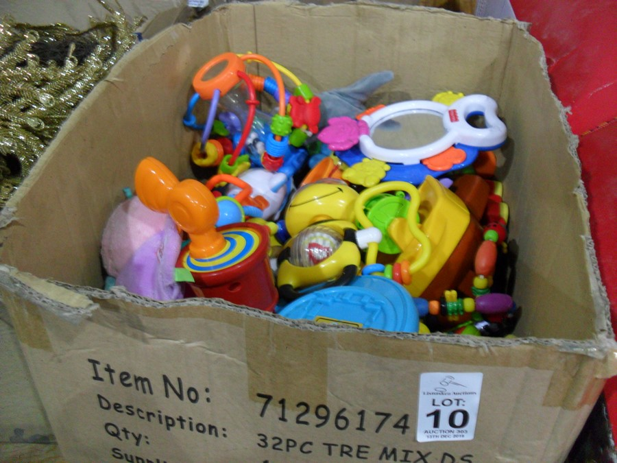 Lot 10 - BOX OF CHILDREN'S TOYS