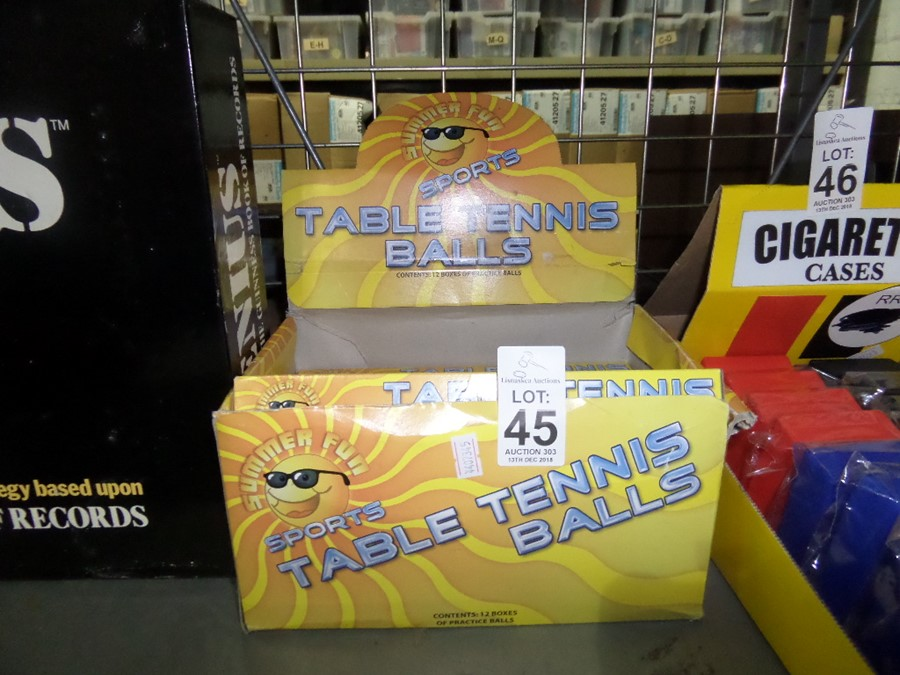 Lot 45 - PACKS OF NEW TABLE TENNIS BALLS