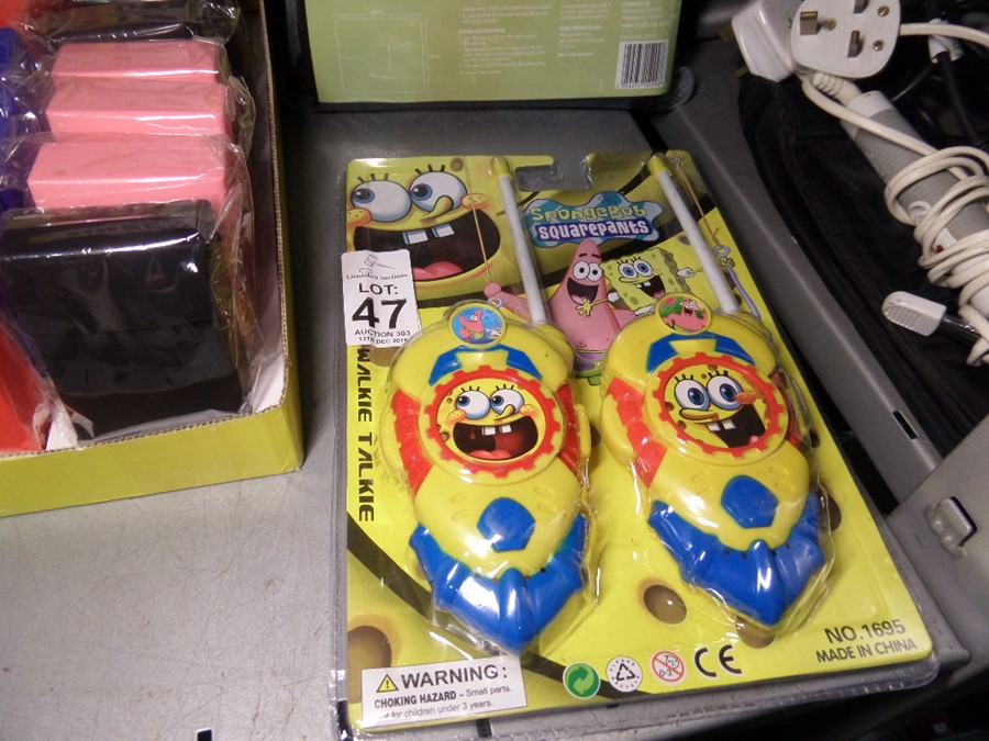 Lot 47 - SPONGE BOB WALKIE TALKIES SHOP CLEARANCE