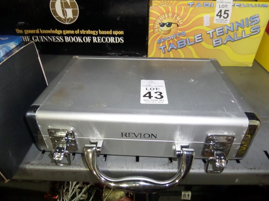 Lot 43 - REVLON BEAUTY BOX AND CONTENTS