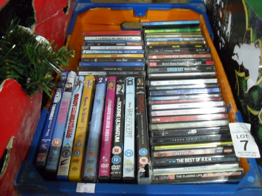 Lot 7 - BOX OF CDS AND DVDS