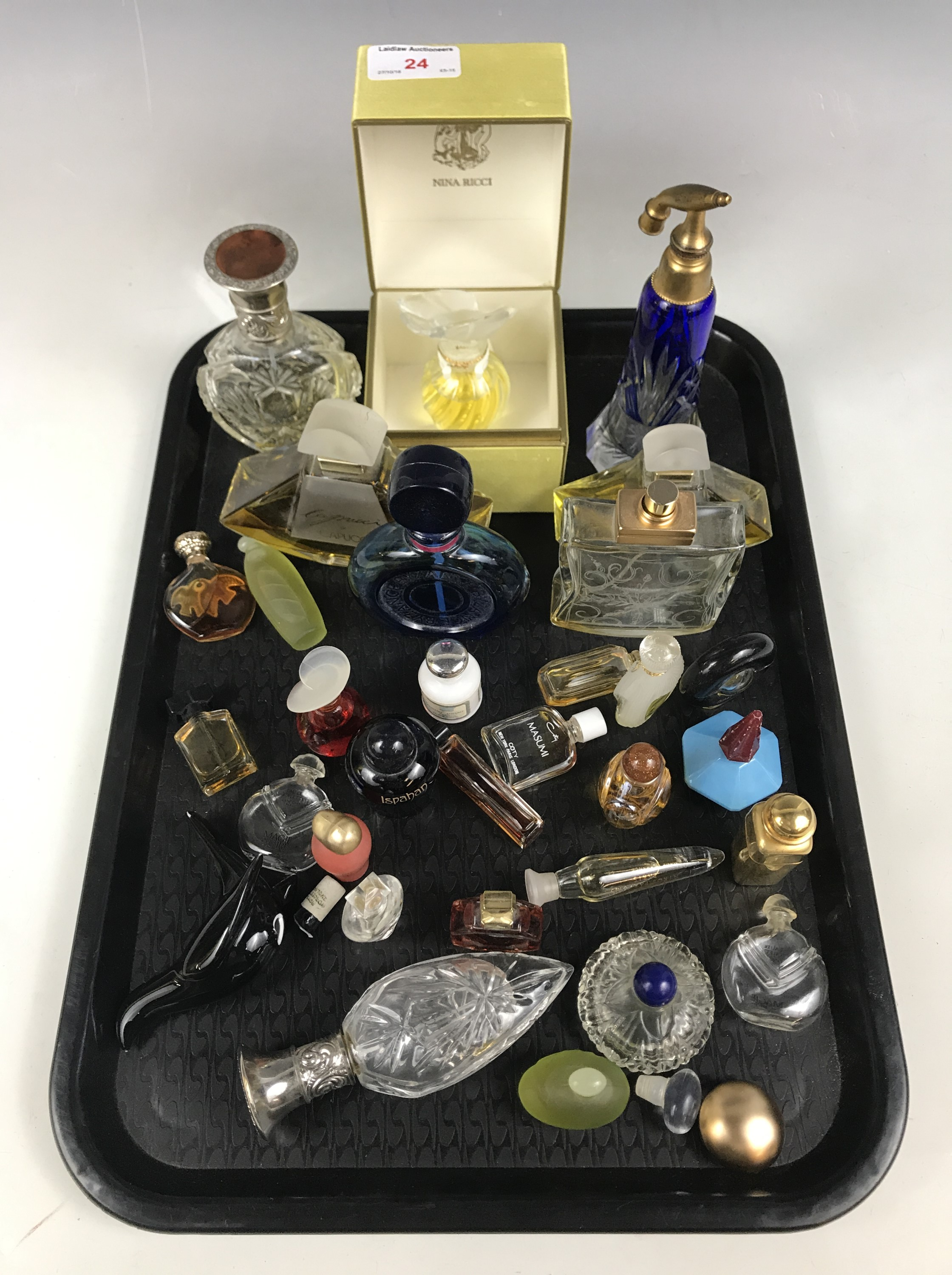 Lot 24 - A quantity of vintage miniature perfume bottles etc
