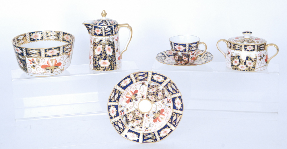 Lot 54 - A small collection of assorted Royal Crown Derby Imari pattern teawares comprising a large slop