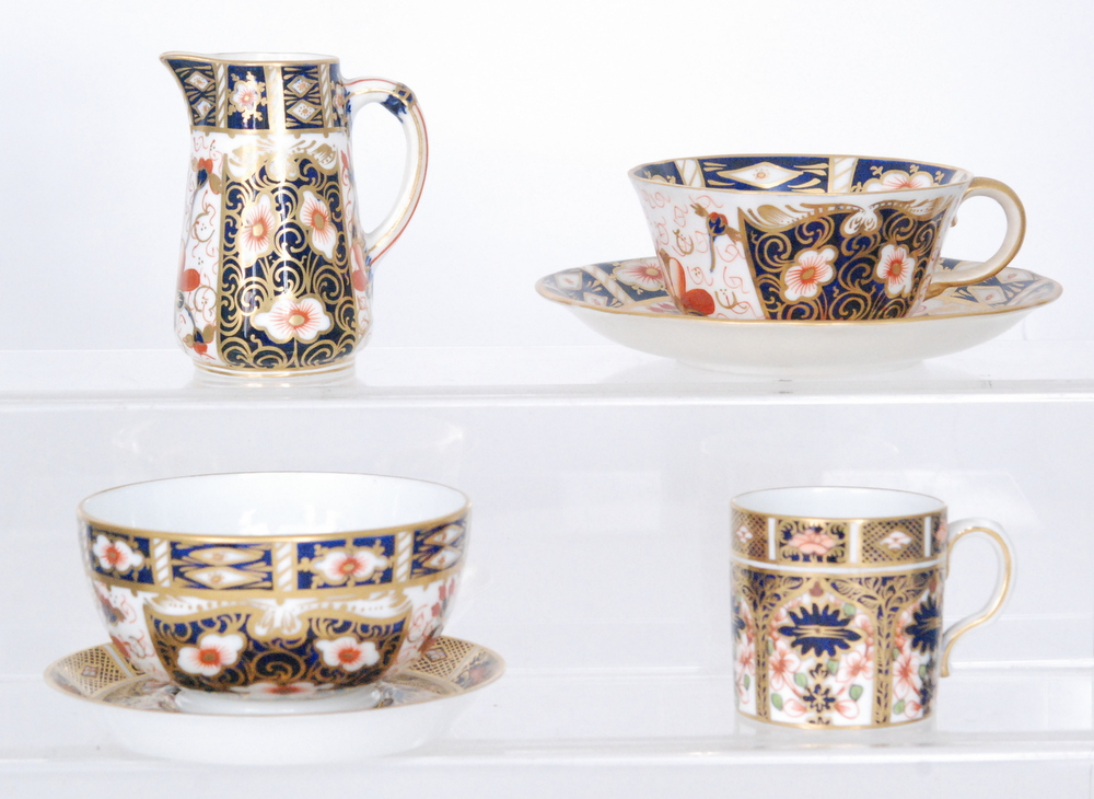 Lot 51 - A Royal Crown Derby teacup and saucer decorated in the Imari pattern 2451, saucer diameter 13.