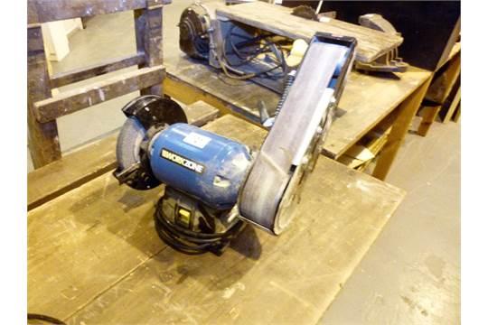 Terrific Work Zone 240W Bench Grinder With Belt Sander Beatyapartments Chair Design Images Beatyapartmentscom