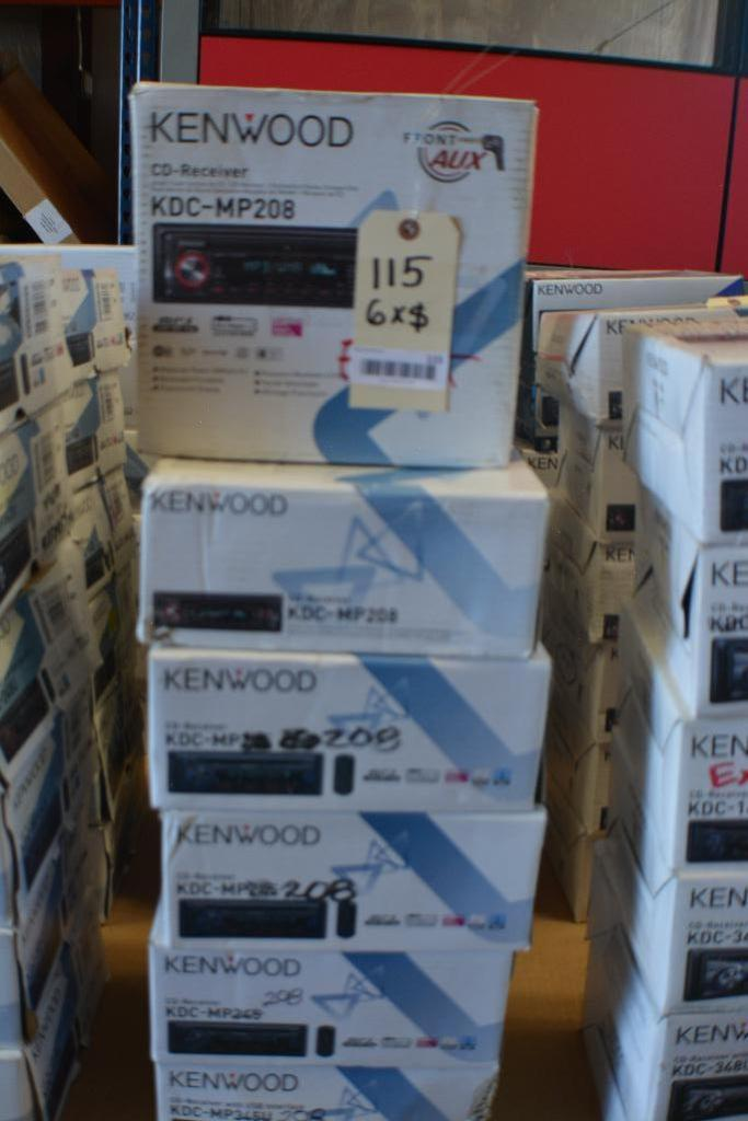 Kenwood Car Stereo Model KDC-MP208 CD-Receiver + MP3 Aux. Port.(Some stereos not in original box). Q - Image 2 of 2
