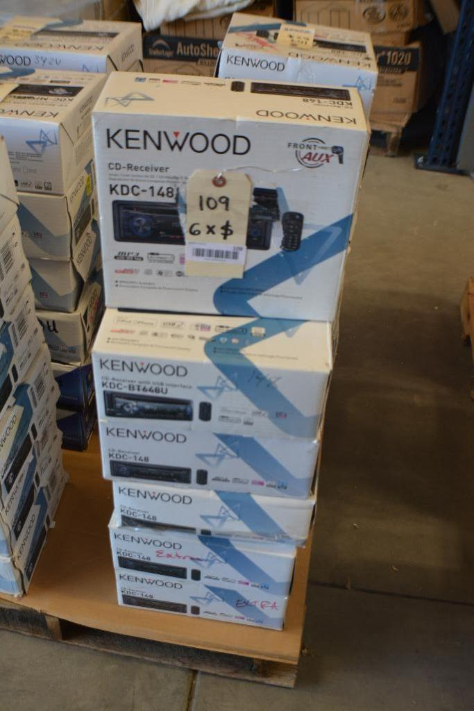 Lot 109 - Kenwood Car Stereo Model KDC-148 CD-Receiver + MP3 Aux. Port.(Some stereos not in original box). Qty
