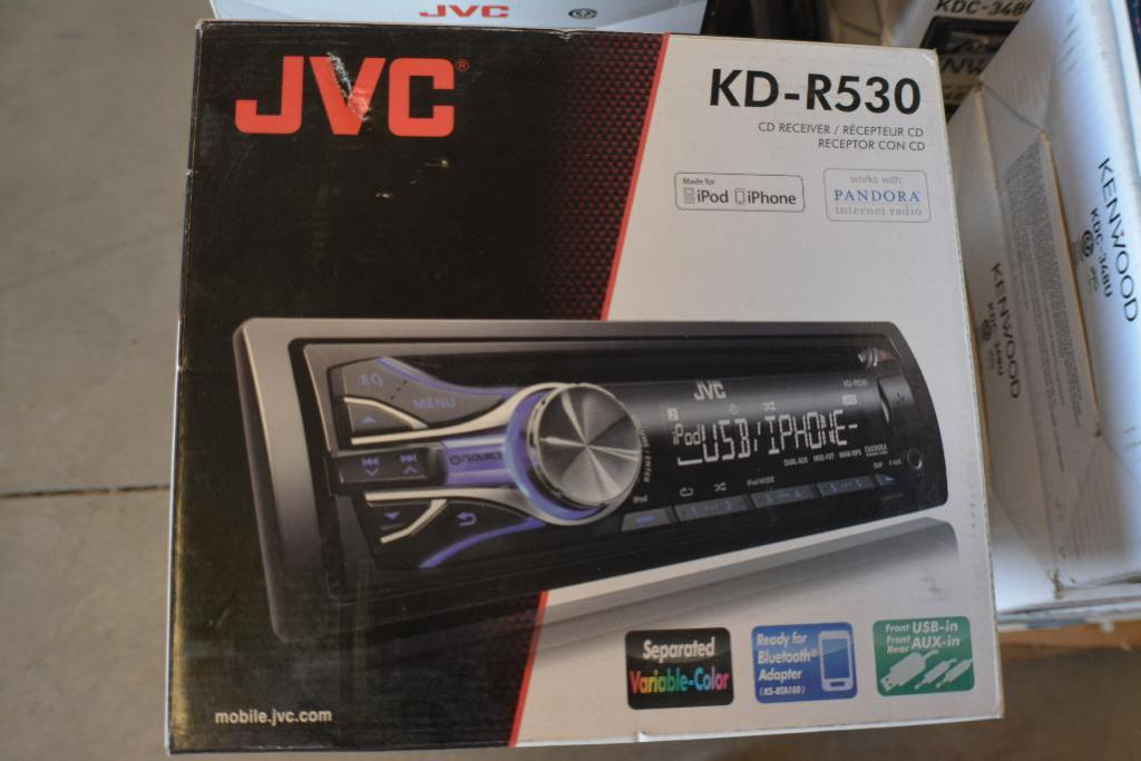 JVC Car Stereo Model KD-R530.CD-Receiver + Ready for Bluetooth + USB and Aux.(Some stereos not in or