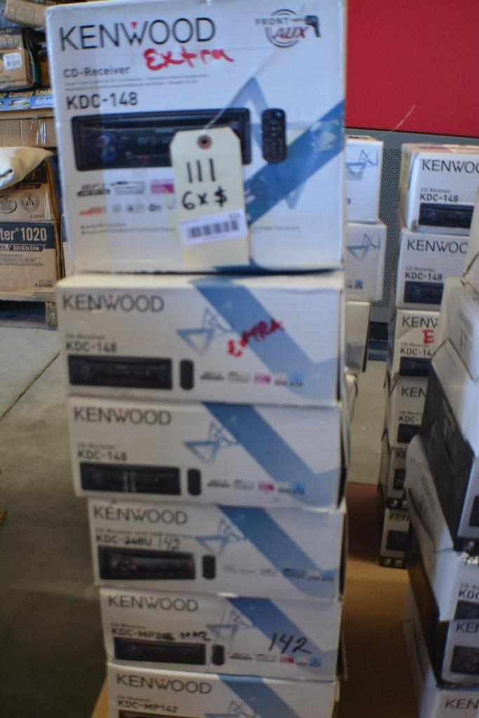 Kenwood Car Stereo Model KDC-148 CD-Receiver + Aux. Port. (Some stereos not in original box). Qty 6 - Image 2 of 2