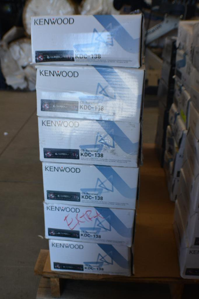 Lot 125 - Kenwood Car stereo Model KDC-138 with CD-Receiver + Aux. Port. (Some stereos not in original box). Q