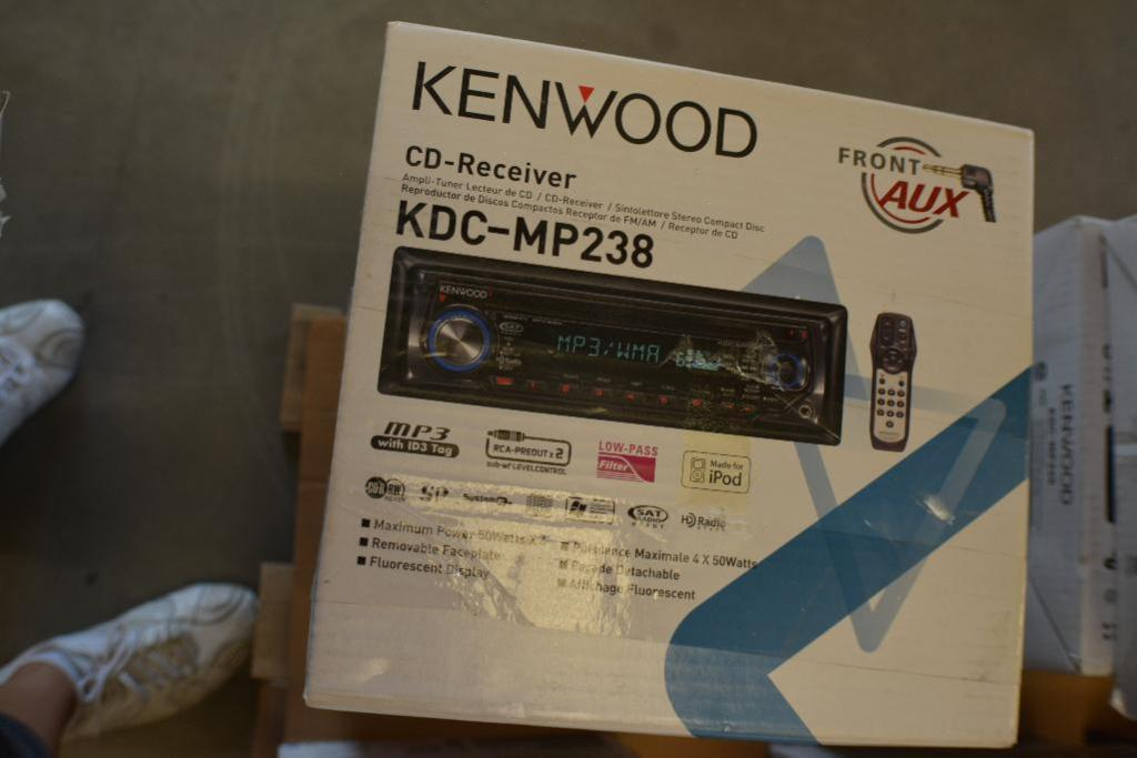 Kenwood Car Stereo Model KDC-MP238 CD receiver - in-dash unit - Front Aux. (Some stereos not in orig - Image 2 of 2