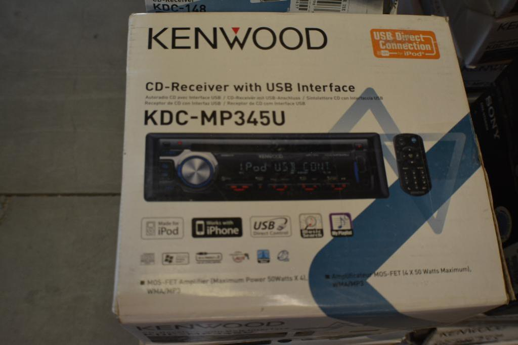 Lot 130 - Kenwood car Stereos Model KDC-MP345U Single-DIN In-Dash CD Receiver with Bluetooth and Pandora Inter