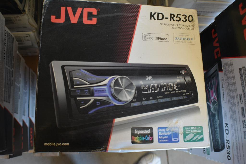 Lot 103 - JVC Car Stereo Model KD-R530. CD-Receiver + Ready for Bluetooth + USB and Aux. (Some Stereos not in