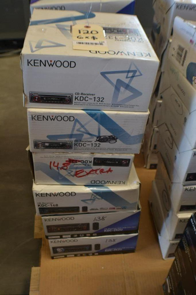Lot 120 - Kenwood Car Stereo Model KDC-132 CD- Receiver + Model KDC 148 + Mode KDC 138. (Some stereos not in O