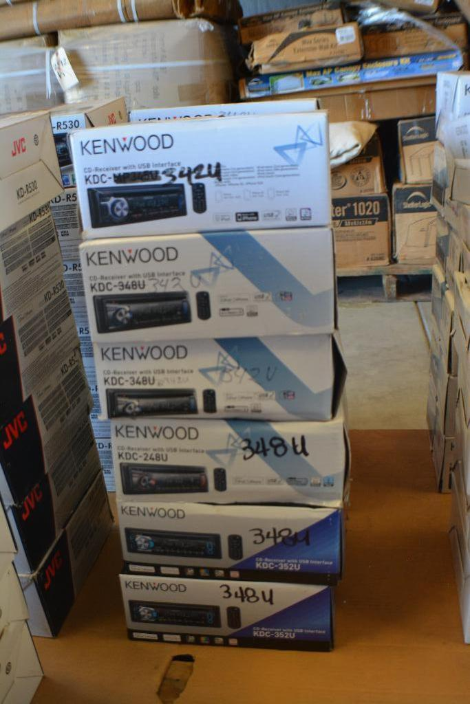 Lot 105 - Kenwood Car Stereo Model KDC-MP342U CD-Receiver + USB & Aux Port. (Some stereos not in original box)