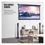(KG6) 80-Inch Pull-Down Projector Screen. Create that buzz of the cinema at home with a large 8...