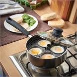 (KG34) Egg Poacher. Includes 4 removable egg cups and internal pan frame to hold them securely ...
