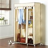 (KG12) Beige Canvas Effect Wardrobe. Practical, durable and stylish, this premium quality canva...