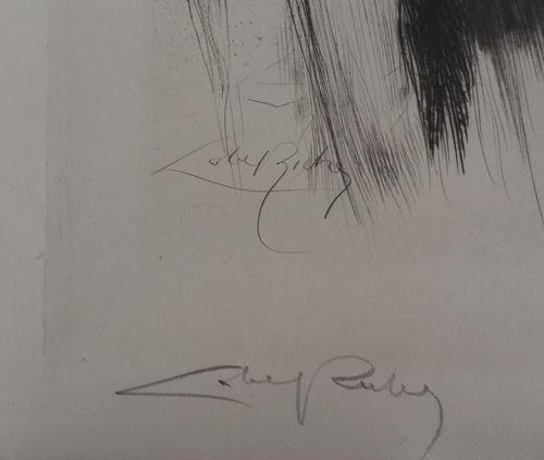 Lot 16 - Alméry LOBEL-RICHE - La rencontre - Gravure originale sur papier Japon ancien - [...]